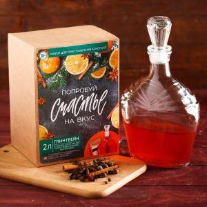 Подарочный набор для приготовления алкоголя «Глинтвейн»: набор трав и специй, штоф 500 мл