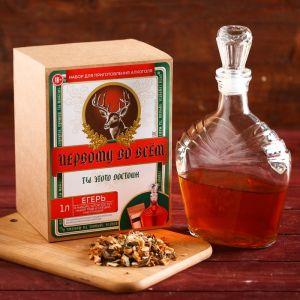 Подарочный набор для приготовления алкоголя «Егерь»: набор трав и специй, штоф 500 мл