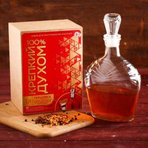 Подарочный набор для приготовления алкоголя «Перцовка»: набор трав, специи, штоф 0.5 л