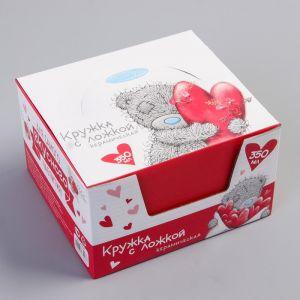 """Кружка с ложкой в подарочной упаковке """"Ты моё счастье"""", 350 мл, Me to You"""