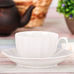 Чайная пара: кружка 200 мл, блюдце ? 14 см
