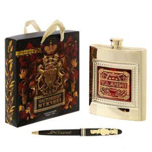 """Набор подарочный """"Удачи"""", фляжка 240 мл, ручка 1685724"""