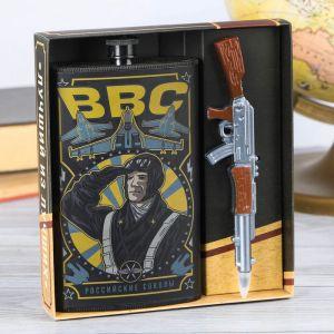 """Подарочный набор """"ВВС"""", фляжка 300 мл, ручка 3000070"""