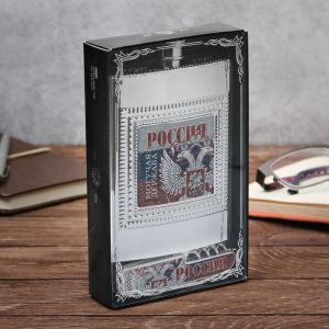 "Набор ""Россия"": фляжка пластик 240 мл, нож-мультитул"