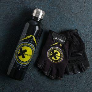 Набор для тренировок «Экстремал»: бутылка 600 мл, перчатки р-р ХL