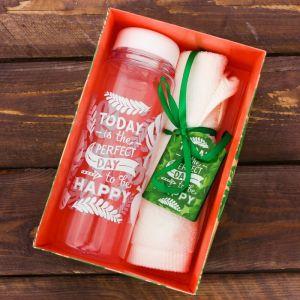 Набор «Perfect day»: бутылка для воды 500 мл, полотенце 30 см ? 30 см 2588977