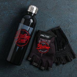 Набор для тренировок «Спорт»: бутылка 600 мл, перчатки р-р ХL