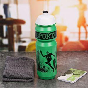 Набор «Sport is life»: бутылка для воды 800 мл, полотенце 30 см ? 30 см, блокнот 2588944