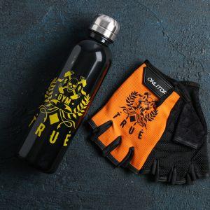 Набор для тренировок «Правда»: бутылка 600 мл, перчатки р-р ХL
