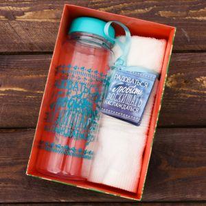 Набор «Восхищать»: бутылка для воды 500 мл, полотенце 30 см ? 30 см 2588978