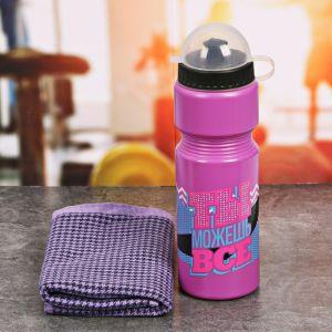 Набор «Ты можешь всё»: бутылка для воды 800 мл, полотенце 30 см ? 30 см, чехол 2588934