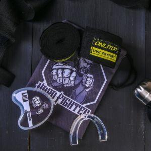 Набор для бокса «Боец»: капа, бинты для бокса 2 шт. ? 4 м