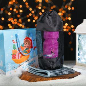 Новогодний подарочный набор «Улётного Нового Года»: бутылка 750 мл, полотенце 30 х 30 см, МИКС