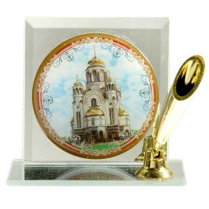 """Подставка для ручки с иконой """"Храм-на-Крови"""" 157394"""