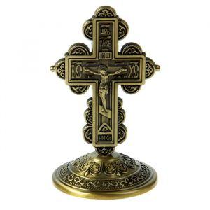 """Крест на подставке """"Иерусалим"""", бронзовый цвет 803579"""