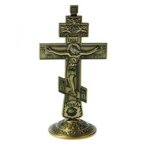 """Крест на подставке """"Православный"""", бронзовый цвет 803589"""