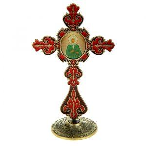 """Крест на подставке с иконой """"Блаженная Ксения Петербургская"""" 175962"""