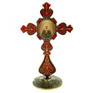 """Крест на подставке с иконой """"Блаженная Матрона Московская"""" 175954"""