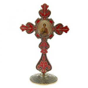 """Крест на подставке с иконой """"Великомученик и Целитель Пантелеимон""""   175961"""