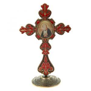 """Крест на подставке с иконой """"Преподобный Серафим Саровский""""   175957"""