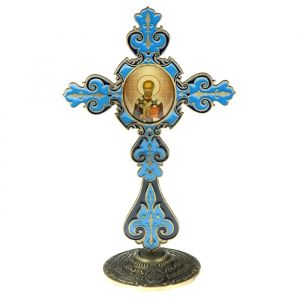 """Крест на подставке с иконой """"Святитель Николай Чудотворец"""" 175959"""
