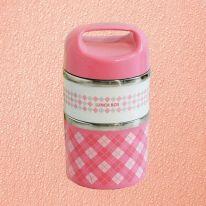 Термо ланч-бокс в виде термоса с двумя отсеками Lunch Box, 950 мл, розовый