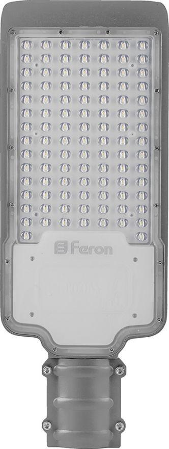 Светильник уличный консольный Feron SP2923 80W 6400K AC100-265V, серый 32215
