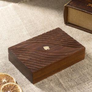 "Набор игр ""Колоды  карт"" дерево 16,5х12х4 см   2359142"