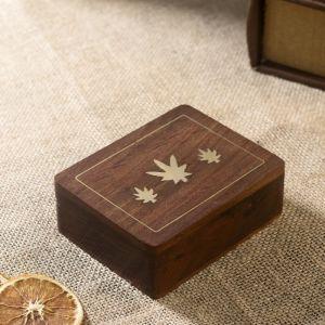 """Настольная игра """"Колода карт в шкатулке"""" дерево 12х9х4 см   2437190"""