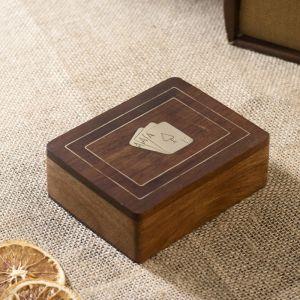 """Настольная игра """"Колода карт в шкатулке"""" дерево 8х11,5х4 см   2437191"""