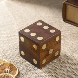 "Шкатулка дерево ""Кубик"" (5 кубиков) 7,5х7,5х7,5 см   4223353"
