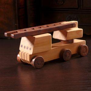 """Деревянный сувенир """"Пожарная машина"""" 21х6,5х8 см   4205797"""