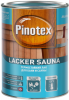 Лак для Бани и Сауны Pinotex Lacker Sauna 1л Термостойкий до 120°С / Пинотекс Лакер Сауна