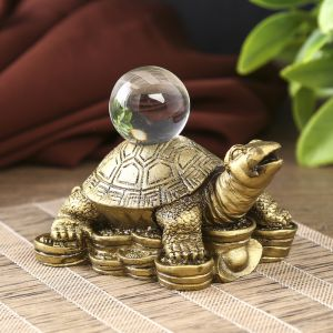 нэцкэ черепаха с кристаллом 221812