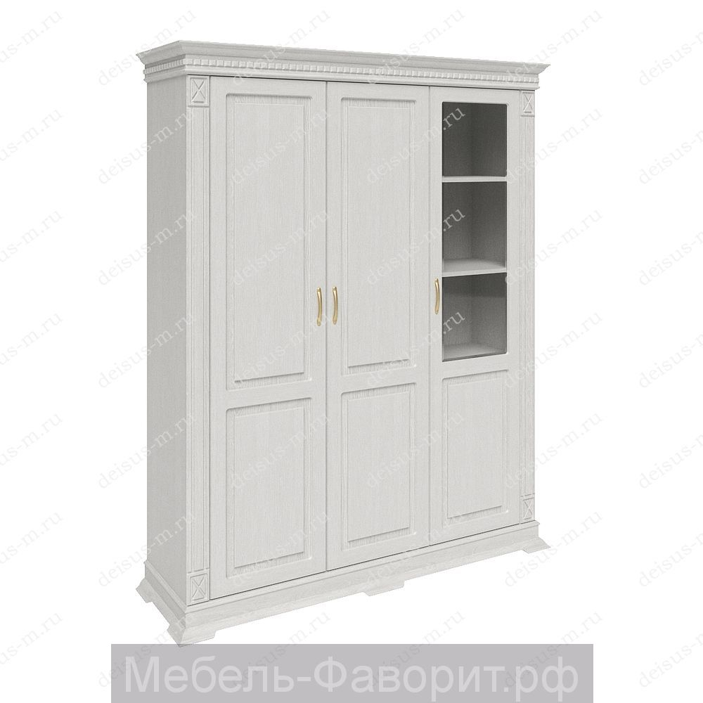 Шкаф трехстворчатый Верди-М 2 БЕЛАЯ эмаль