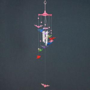"""Музыка ветра пластик """"Птицы"""" светятся в темноте 4 трубочки + 11 фигурок 67 см МИКС 2319984"""