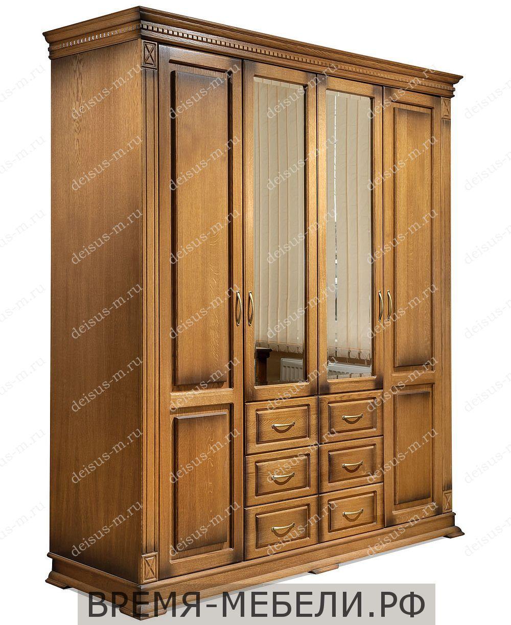 Шкаф четырехстворчатый Верди-М 1