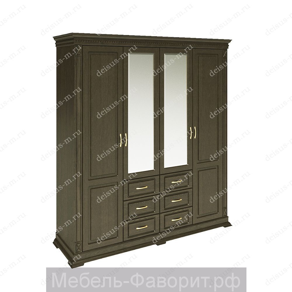 Шкаф четырехстворчатый Верди-М 1 Орех 3