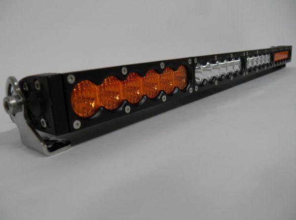 Однорядная комбинированная светодиодная балка белого и янтарного свечения G1 120W