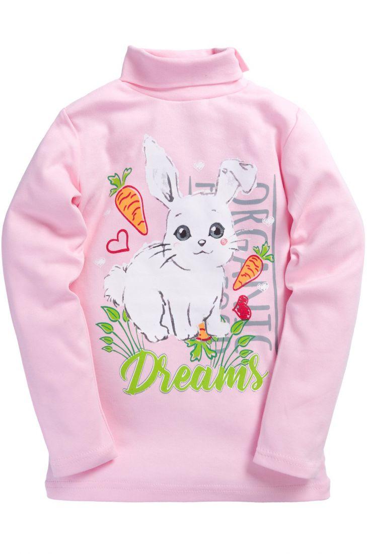 Розовая водолазка для девочки Dreams