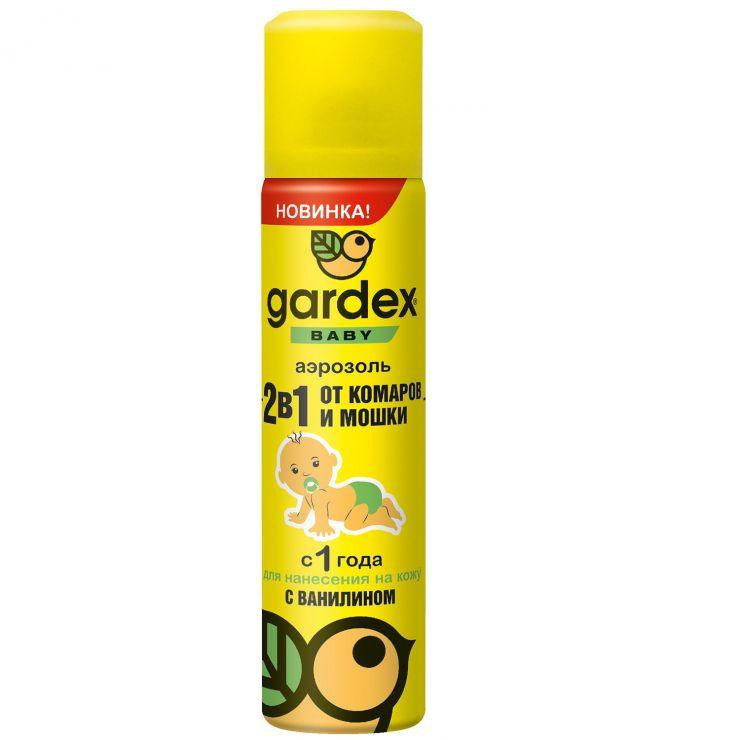 Аэрозоль Gardex Baby от комаров и мошки для детей с 1 года 80 мл