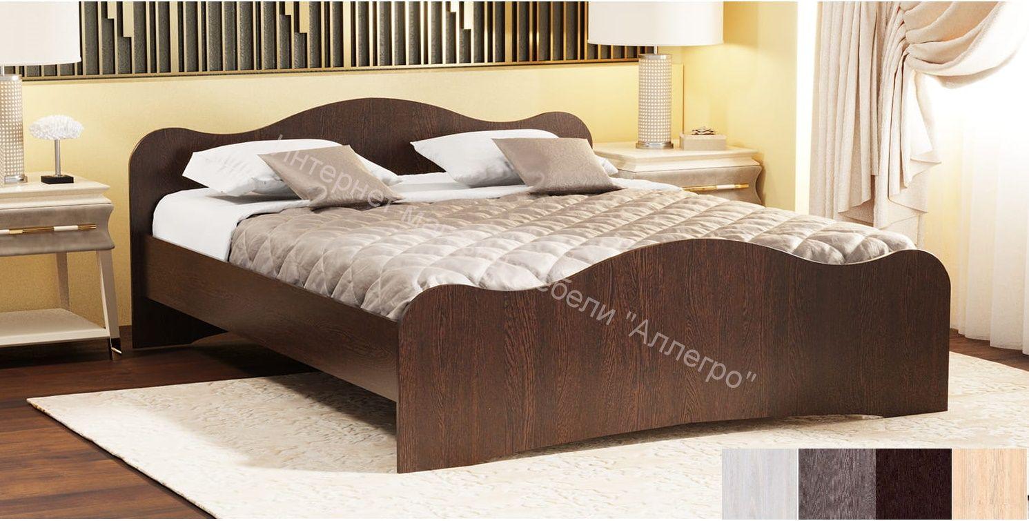 """Кровать """"Фант 5"""" с 2-мя фигурными спинками"""