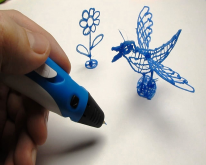Набор для объёмного рисования I Do 3D Vertical, 3 ручки, синий