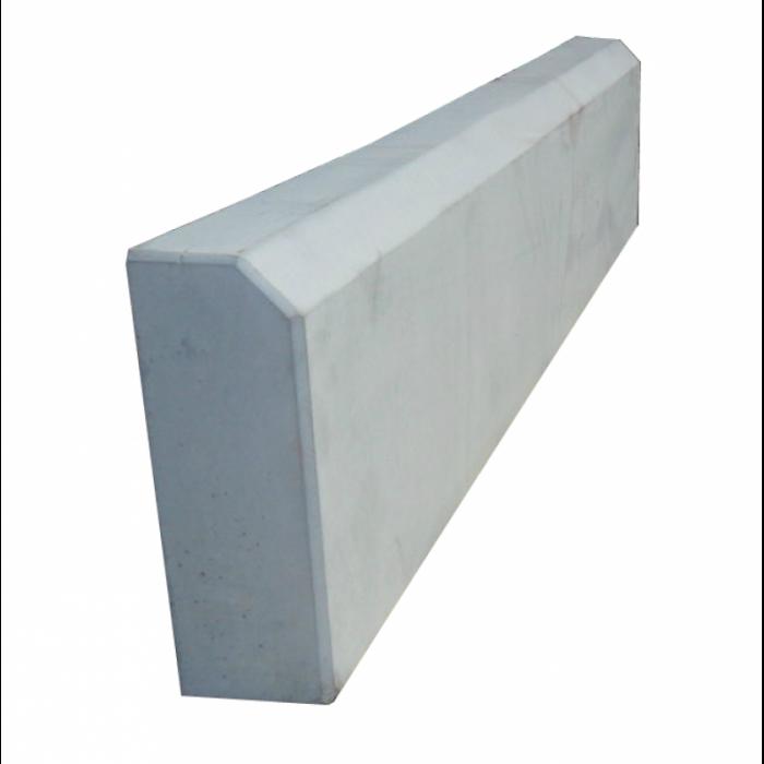 Камень бордюрный садовый (серый), вибролитый 1000х200х80 мм
