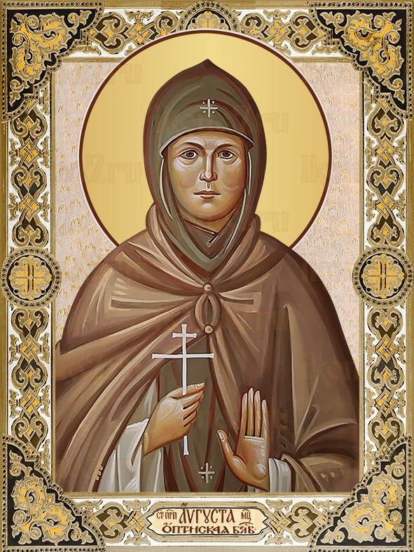 Икона Августа преподобномученица (Защук)