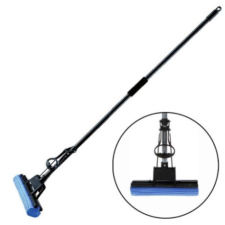 Швабра PVA с супервпитывающей насадкой и телескопической ручкой, 118х27 см