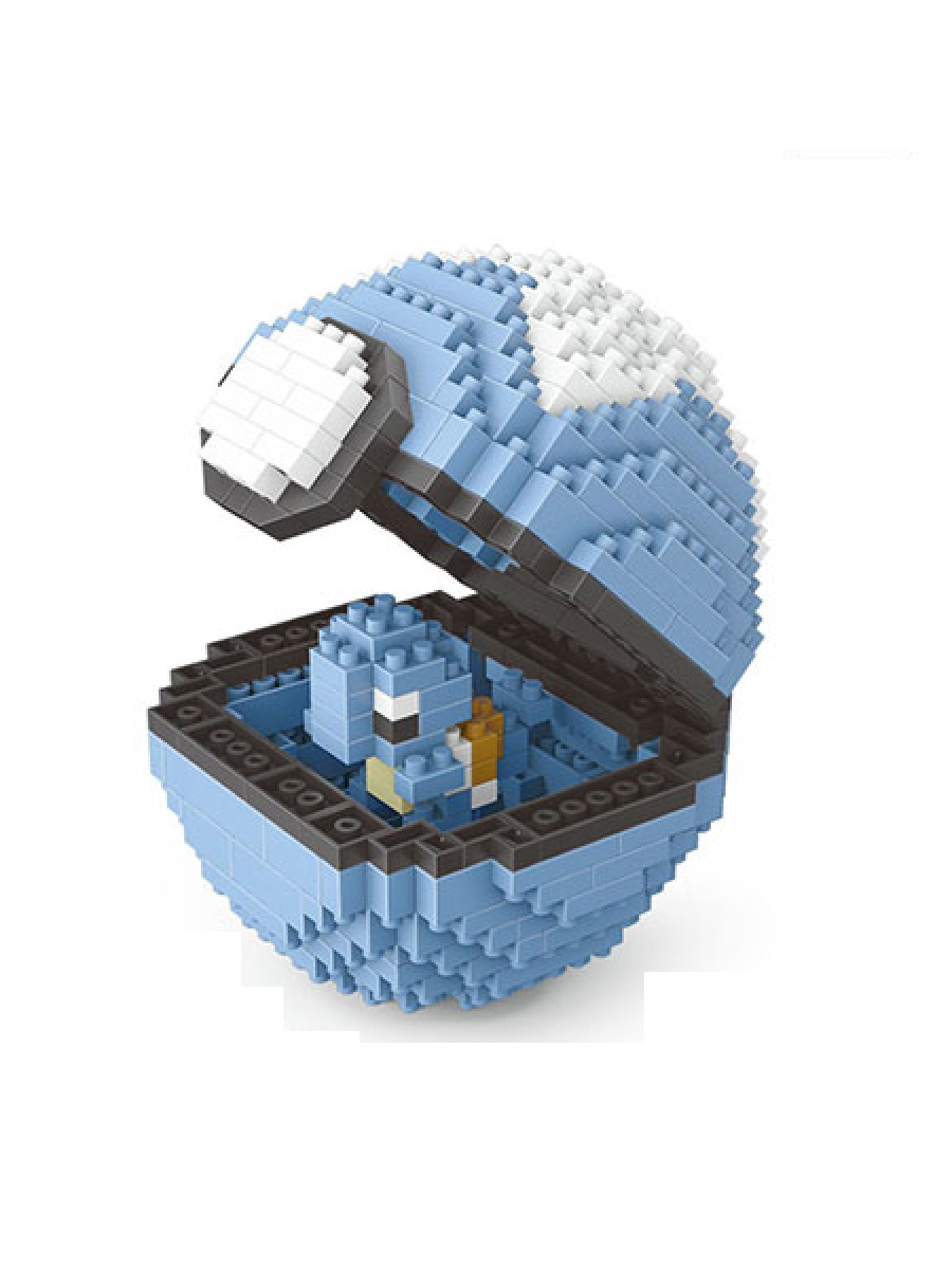 Конструктор Wisehawk & LNO Покемон бол Сквиртл 399 деталей NO. 2533 Squirtle Pokemon ball Series