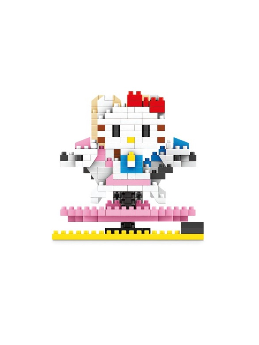 Конструктор Wisehawk & LNO Хеллоу Китти на карусели 327 деталей NO. 098 Hello Kitty Nano blocks