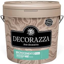 Декоративная Штукатурка Decorazza 18кг Microcemento Struttura + Legante с Эффектом Бетона, Крупная Фракция / Декоразза Микроцементо Струттура