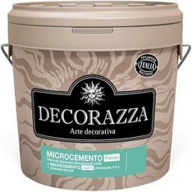 Декоративная Штукатурка Decorazza 15.3кг Microcemento Fronte + Legante с Эффектом Бетона, Мелкая Фракция